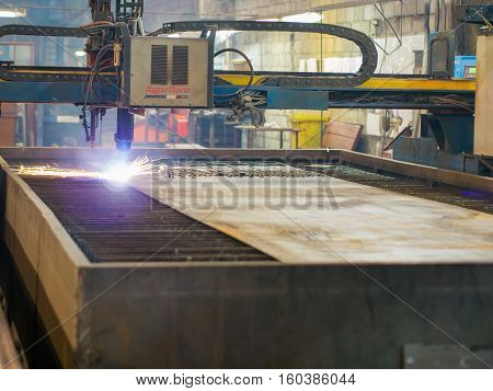 Cnc Gas Or Plasma Cutting Metal Sheet