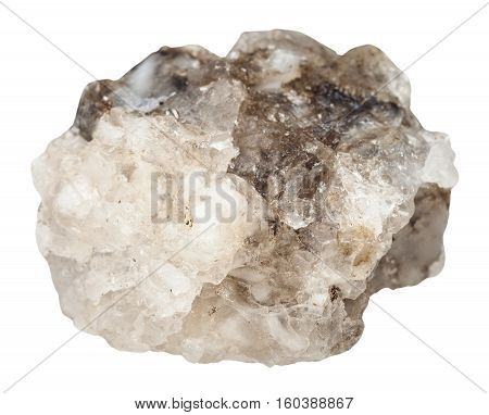 Raw Halite (rock Salt) Stone Isolated