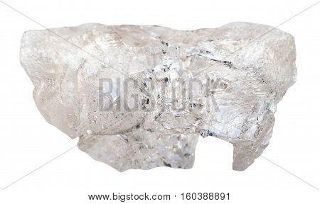 Danburite Rock Isolated On White