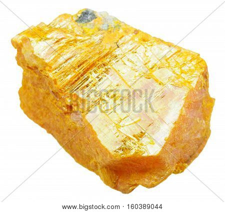 Piece Of Orpiment Stone Isolated On White