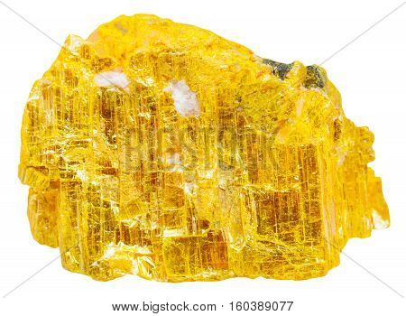 Yellow Orpiment Rock Isolated