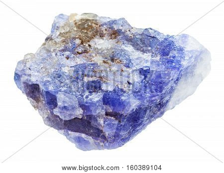 Tanzanite (blue Violet Zoisite) Stone Isolated