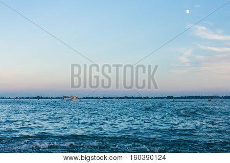 Blue Evening Sky Over San Marco Basin In Venice