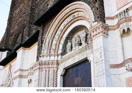 Gate To Basilica Of San Petronio In Bologna
