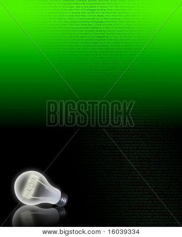 Hi-res Light bulb filament of INNOVATE