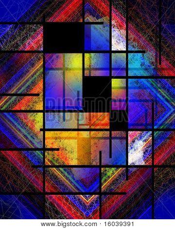 Hi-Res Mondrian Style Variation