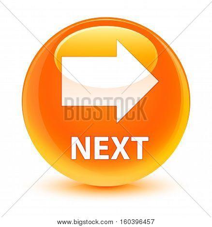 Next Glassy Orange Round Button