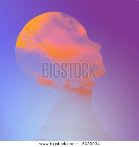 Hi-Res Head Abstract
