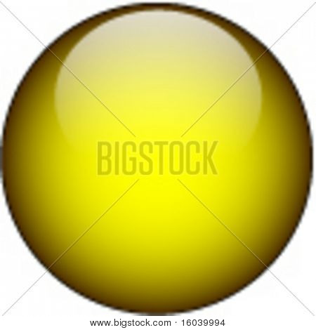 Yellow glass web button