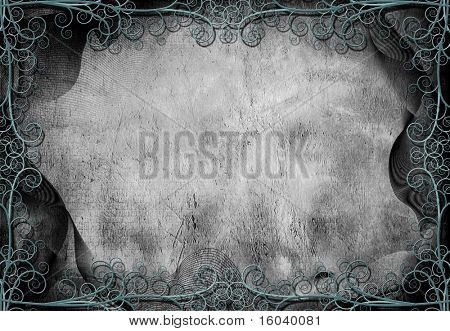 Grunge Background with Intricate iron work