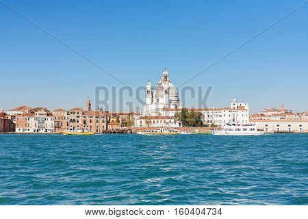 View Of Church Santa Maria Della Salute From Canal
