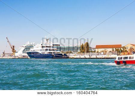 Ships In Venetian Cruise Terminal Port