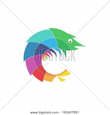 Mantis Shrimp Ocean Animal Stylized Logo Icon