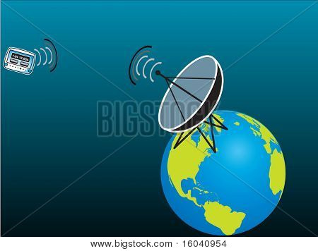 Pager receiving Signal from Satelite