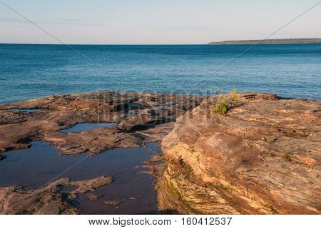 View from Au Train point at Lake Superior, Alger County, Michigan, USA