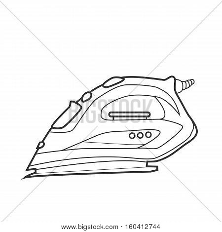 Symbol iron. Icon for site. Line art vector illustration