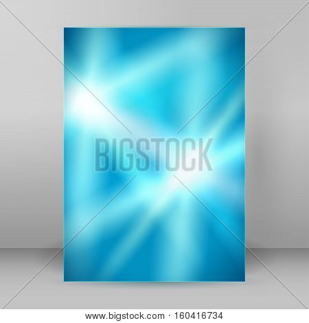 Lines ray background advertising brochure design elements. Blurry light glowing graphic form for elegant flyer. Vector illustration EPS 10 for booklet layout wellness leaflet newsletters
