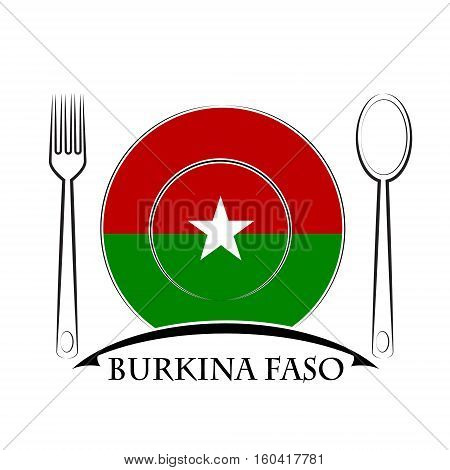 Food logo made from the flag of Burkina Faso