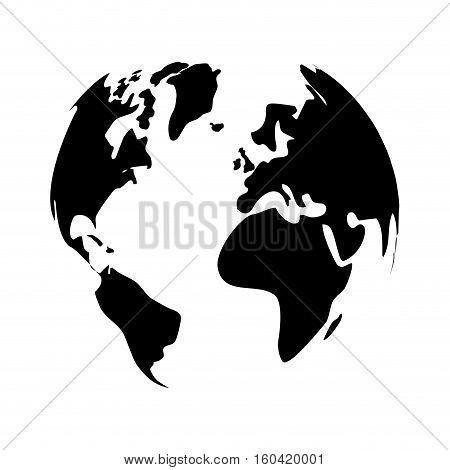 Earth world planet icon vector illustration graphic design