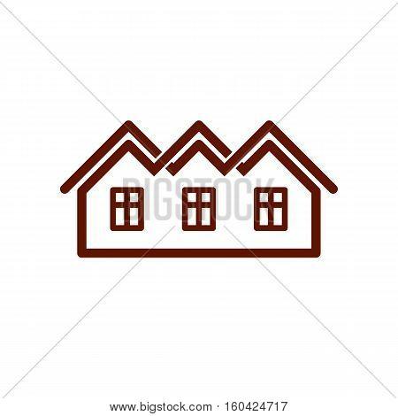 Property Developer Stylish Estate Agency Vector Symbol. Creative Construction Icon, House. Commercia