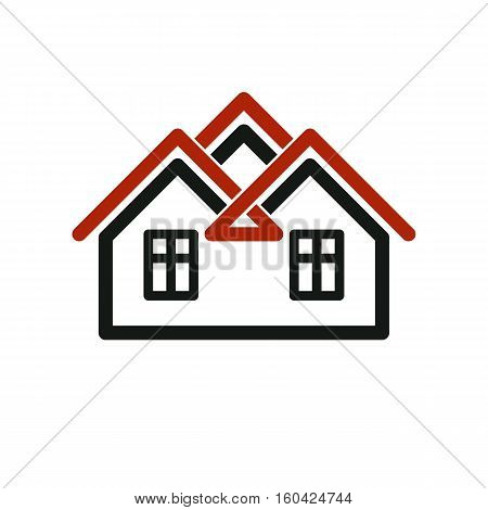 Vector Tylish Estate Agency Corporate Symbol. Creative Construction Icon, House. Commercial Building