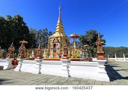 Wat Phra That Doi Wao (Black Scorpion Temple) in Chiang rai Thailand poster