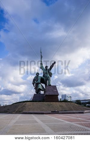Sevastopol. Crimea, Russia - September 2016: Monument to the soldiers and sailors on the Cape Crystal.