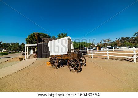 Wild west cart in San Diego Old Town California