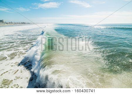 a big wave in Pacific Beach, California