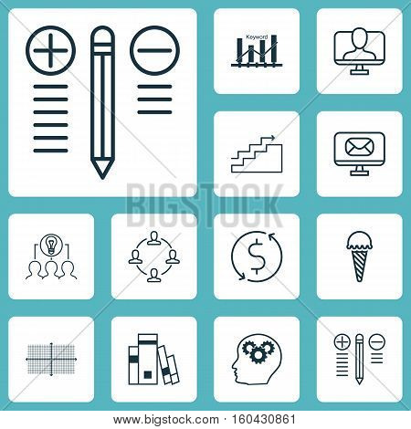 Set Of 12 Universal Editable Icons. Can Be Used For Web, Mobile And App Design. Includes Elements Such As Brain Process, Online Identity, Growth And More.