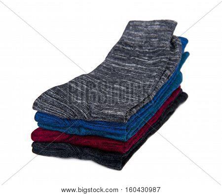 Socks set isolated on the white background
