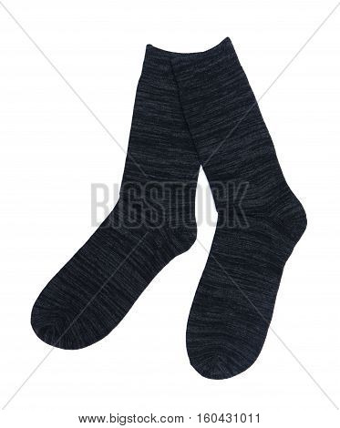 Pair of socks isolated on the white background
