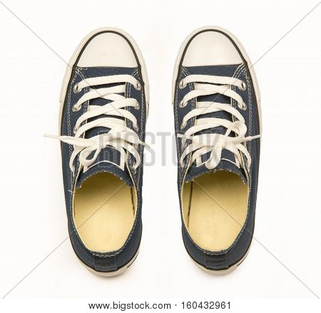New unbranded running shoe sneaker or trainer on white background