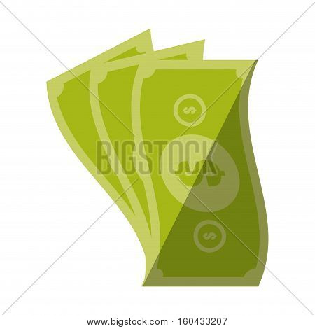 money bills cash dollar color shadow vector illustration eps 10