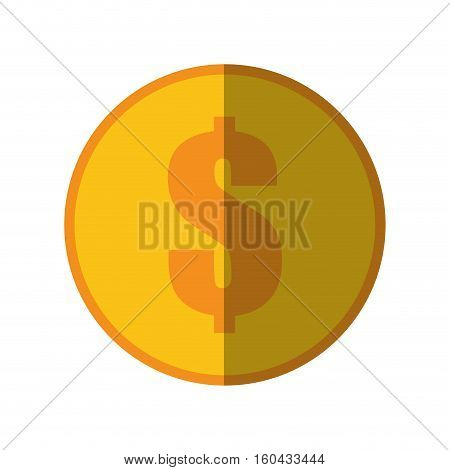 coin dollar money currency icon color shadow vector illustration eps 10