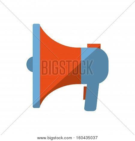 blue and orange megaphone speaker marketing color shadow vector illustration eps 10