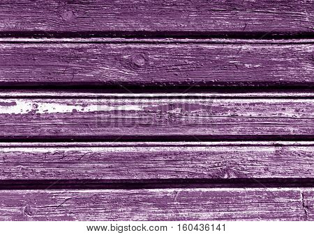 Weathered Purple Color Wooden House Wall.