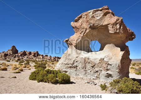 Strange rock formations in Altiplano Bolivia South America