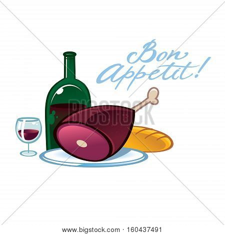 Bon Appetit - food and drinks still life