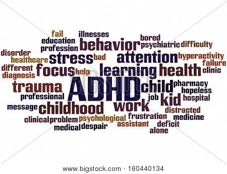 Adhd - Attention-deficit Hyperactivity Disorder, Word Cloud Concept 6