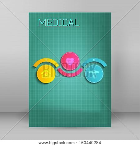 medical background abstract - concept health care or medicine technology. Vector Illustration EPS 10 Graphic Design elements vertical banner flyer dental service presentation template brochure