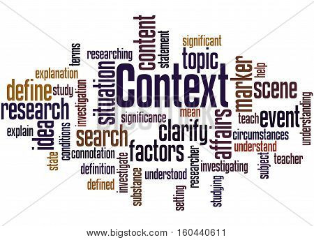 Context, Word Cloud Concept