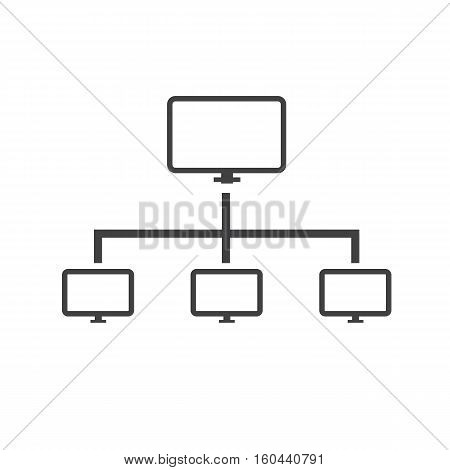 computer network icon isolated on white background. computer network sign.