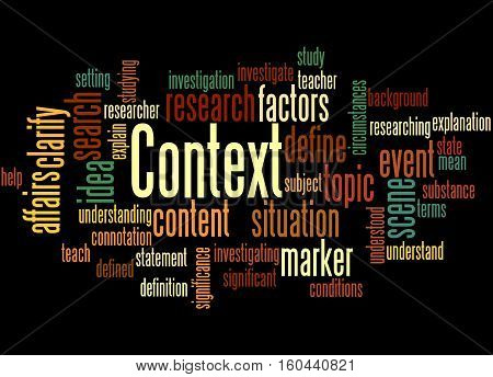 Context, Word Cloud Concept 4