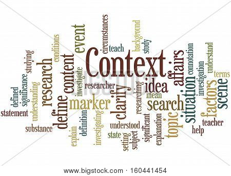 Context, Word Cloud Concept 8