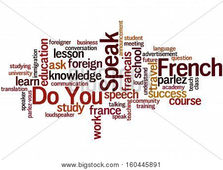 Do You Speak French, Word Cloud Concept 3