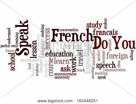 Do You Speak French, Word Cloud Concept 8