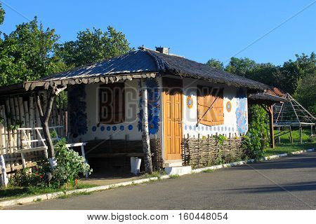 Ukrainian small authentic cafe near the road