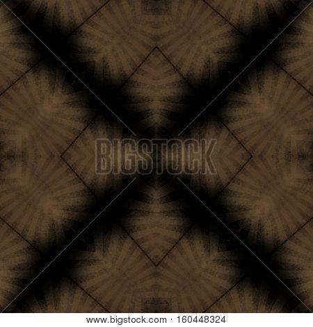 Dark symmetry graphic natural design tile pattern