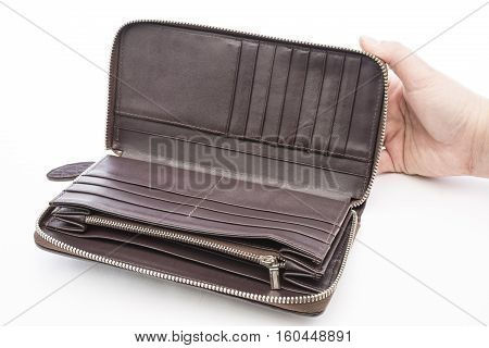 A Closeup to An Empty Wallet for business and fashion